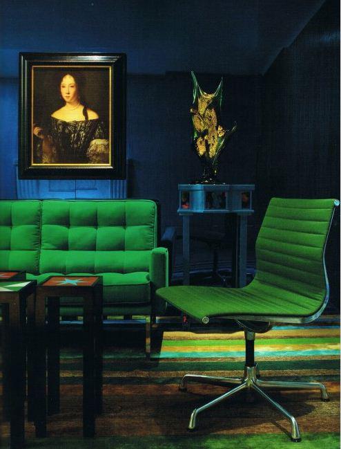 emerald green and blue room forecastingirl. Black Bedroom Furniture Sets. Home Design Ideas