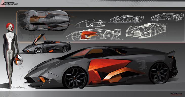 Lamborghini Egoista Estrema Ispirazione Aeronautica Auto
