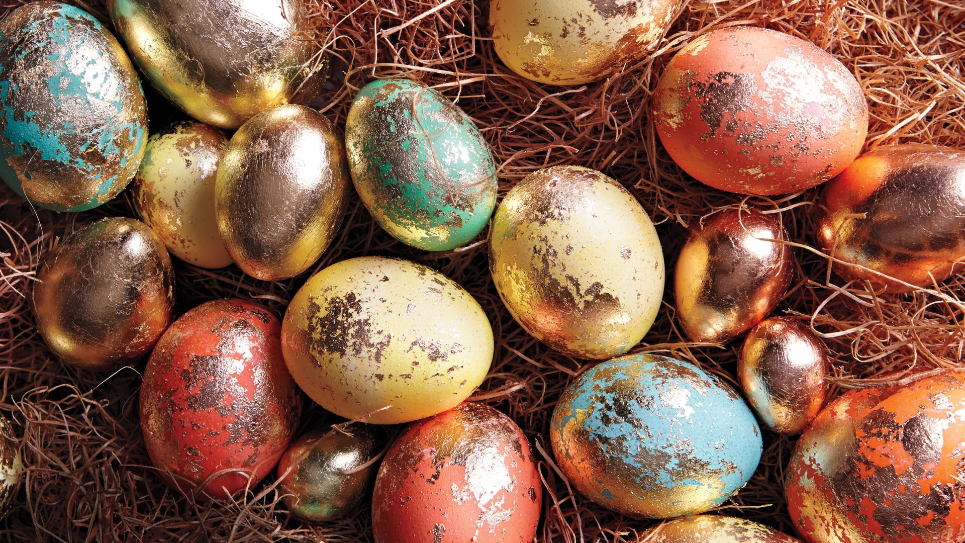 The Shabby chic easter eggs